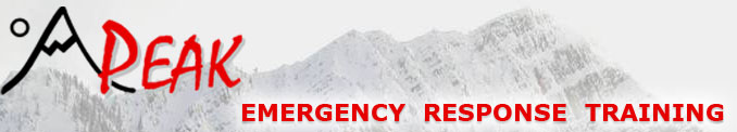 Peak emergency training banner